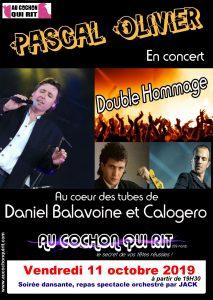 PASCAL OLIVIER chante CALOGERO, BALAVOINE Vendredi 11 octobre 2019 (cliquez ici pour plus d'info)