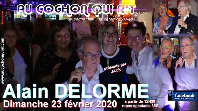 Alain DELORME Dimanche 23 février 2020 (cliquez ici pour plus d'infos)