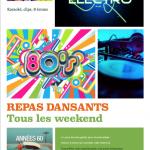 Soirées dansantes, karaoké, clips vidéo, animation les vendredis et samedis soirs