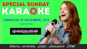 Journée spécial karaoké le dimanche 24 novembre (cliquez ici pour plus d'info)