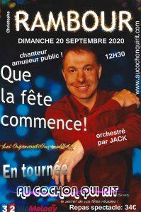 Christophe RAMBOUR chanteur amuseur public DIMANCHE 20 SEPTEMBRE 2020 (cliquez ici pour plus d'info)